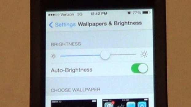 Turn the screen brightness right down
