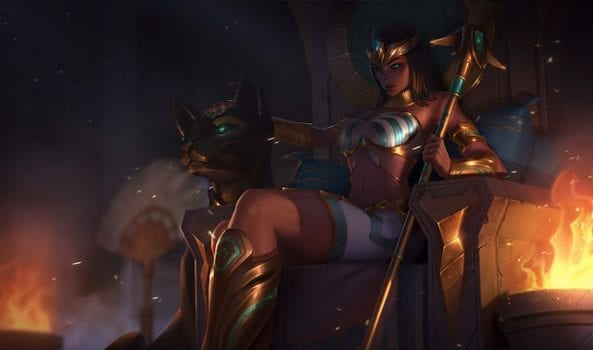 Pharaoh Nidalee skin splash art new