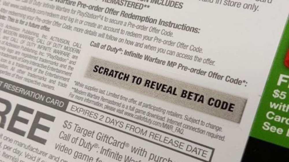 beta, Call of Duty: Infinite Warfare