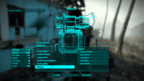 Fallout 4, craftable weapons, mods