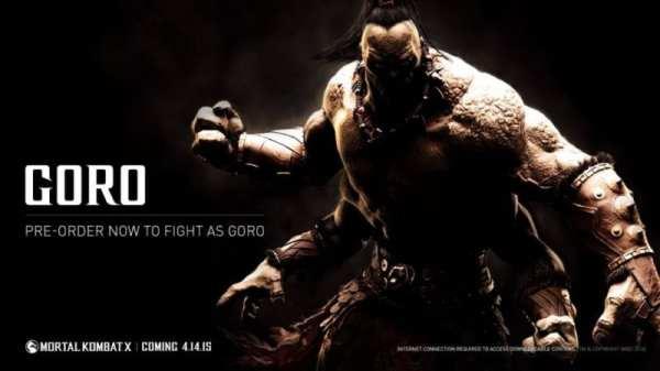 Mortal Kombat X, Goro, Pre-Order, best mortal kombat x characters, to play