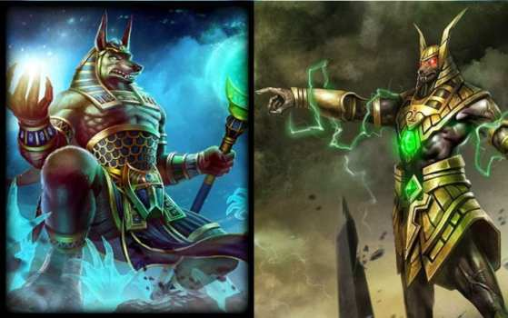 Nasus (League of Legends) vs Anubis (Smite)
