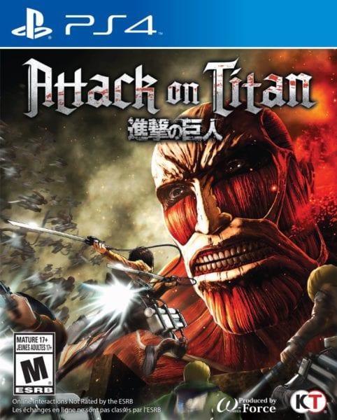 attack on titan, box art