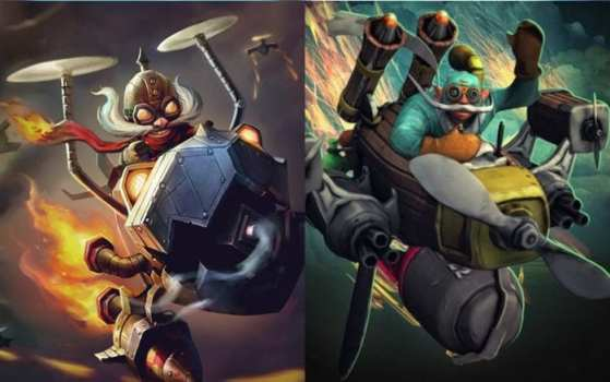 Corki (League of Legends) vs Gyrocopter (Dota 2)