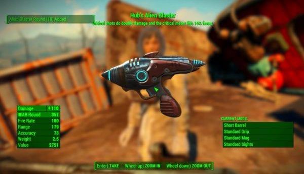 fallout 4 nuka-world hub's alien blaster