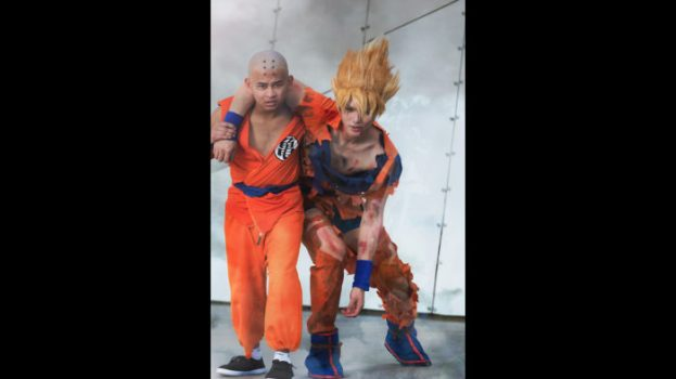 Krillin and Super Saiyan Goku - Dragon Ball Z