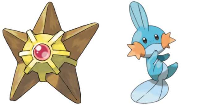 Can Staryu breed with Mudkip?