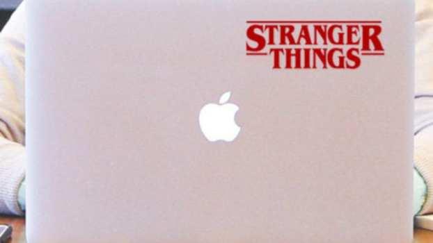 Stranger Things laptop sticker