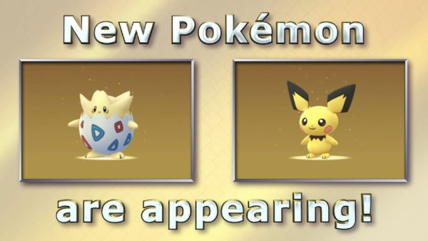 Pokemon GO Pichu and Togepi