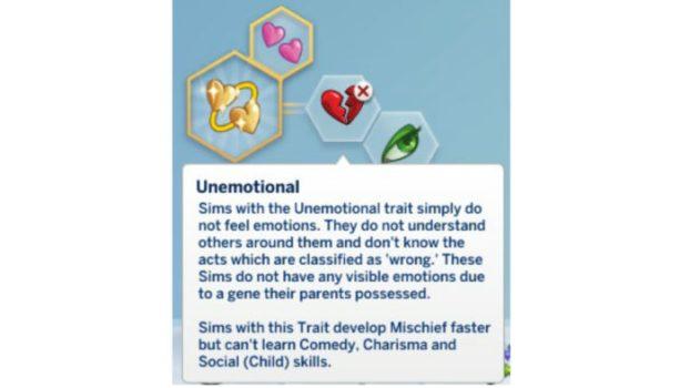 Unemotional Trait