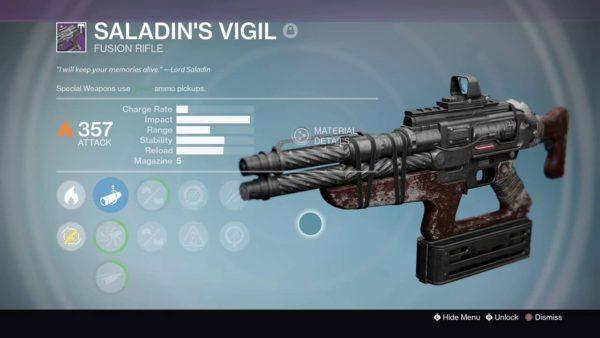 Saladin's Vigil , destiny