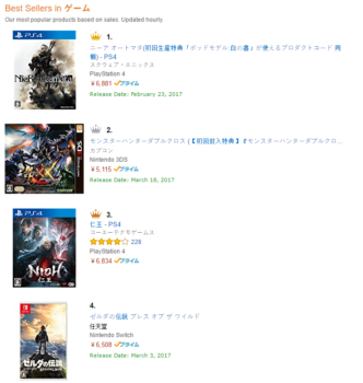 NieR Automata Best Seller