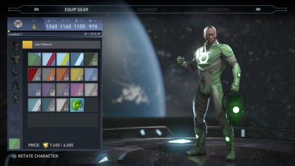 injustice 2, skins, characters, john stewart