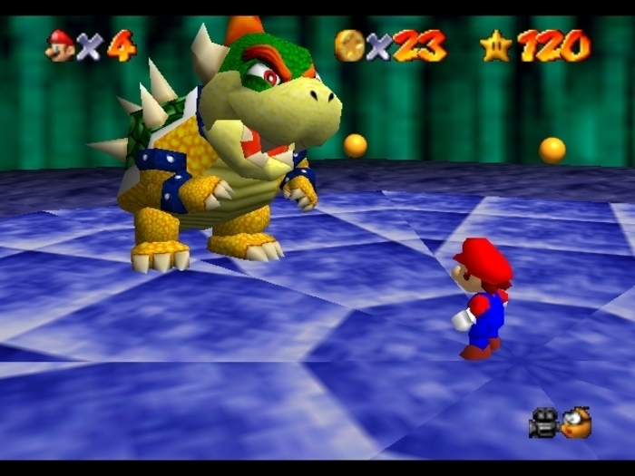 mario, bowser, fight, 64