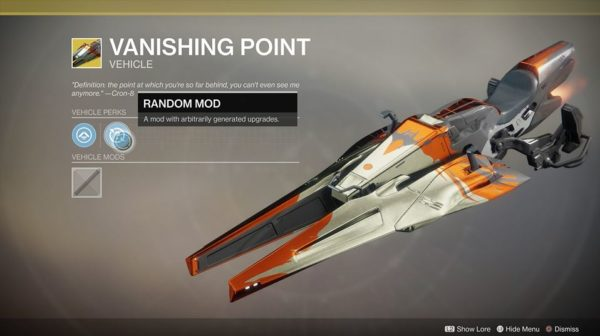 destiny 2, exotic sparrows