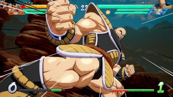 Nappa feels weighty and powerful in Dragon Ball FighterZ.