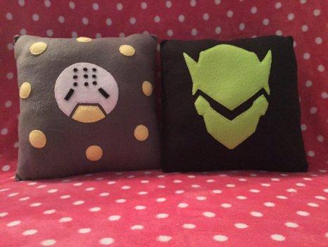 Genji and Zenyatta Stuffed Pillows