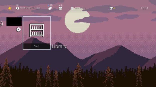 2D Pixel Art: Mountain Range Dynamic Theme