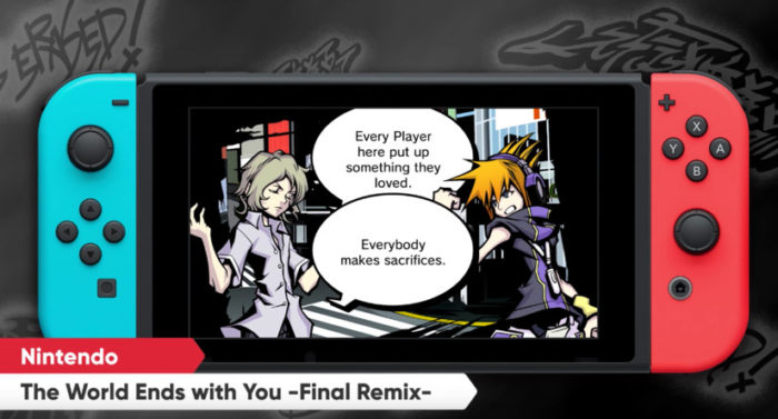 TWEWY's aesthetic will really pop on the pretty Switch screen.