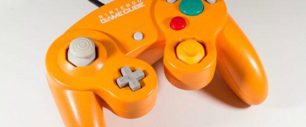nintendo, gamecube controller, spice, orange