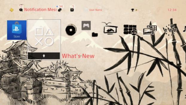 Japanese Sparrow Castle Dynamic Theme