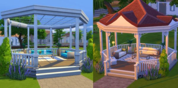 gazabo, sims 4, house ideas