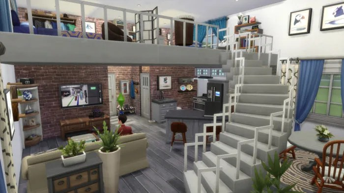 sims 4, loft apartment, house ideas