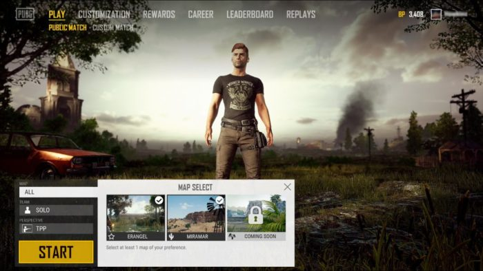 pubg how to choose map, map selection