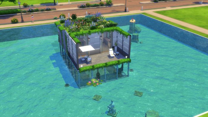underwater house, sims 4, house ideas