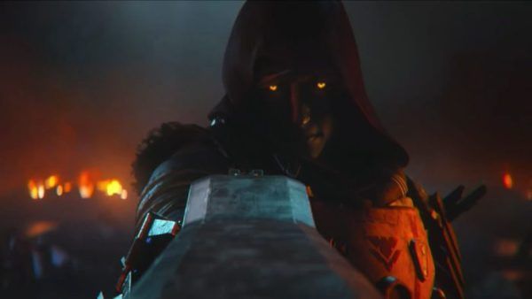 Uldren Sov looking down the sights of the Ace of Spades in the Destiny 2: Forsaken trailer