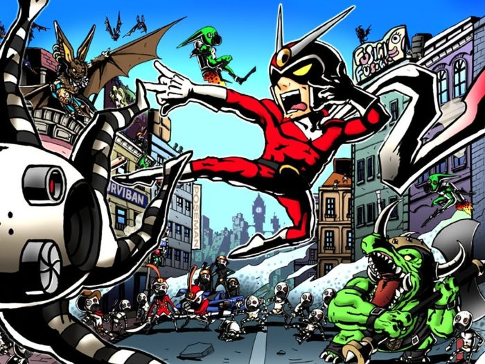 viewtiful joe, viewtiful joe 2, clover studios, superhero games