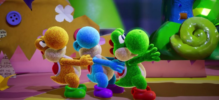 yoshi's crafted world, party games