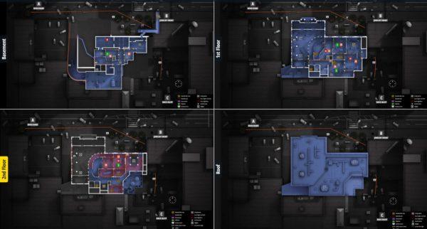 rainbow six siege, all camera locations