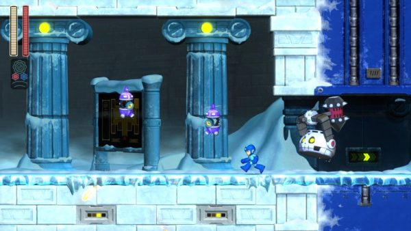 Enemies of Tundra Man's stage in Mega Man 11