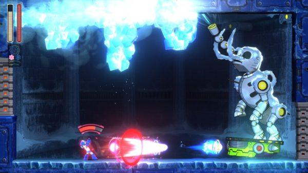A mastadon boss in Mega Man 11