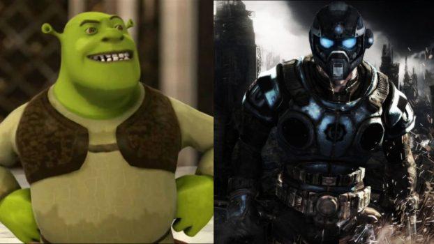 Michael Gough as Shrek (Shrek games) and The Carmine Siblings (Gears of War Series)