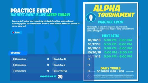 fortnite tournaments, fortnite in-game tournaments
