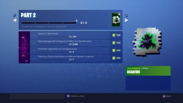 Fortnitemares Challenges Part 2