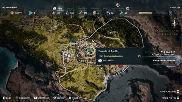 assassins creed odyssey fast travel, how to fast travel in assassin's creed odyssey