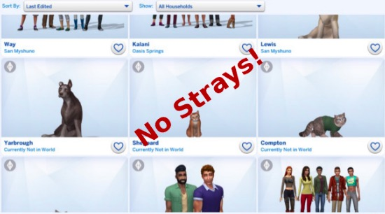 sims 4 pet mods, strays