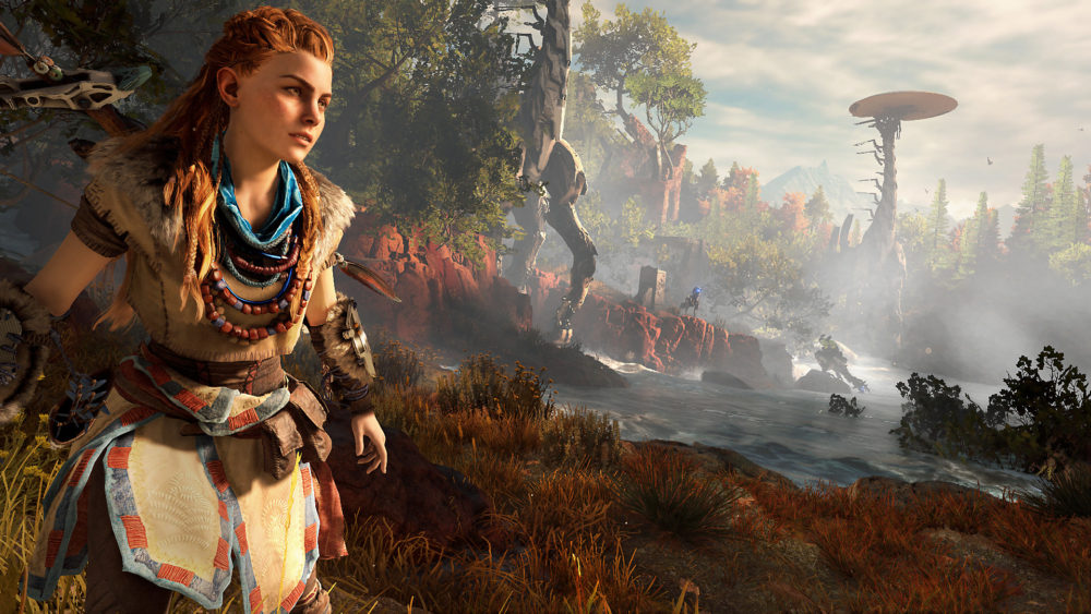 aloy, horizon zero dawn, protagonist, hero, ps4, Guerrilla Games, Sony, protagonists