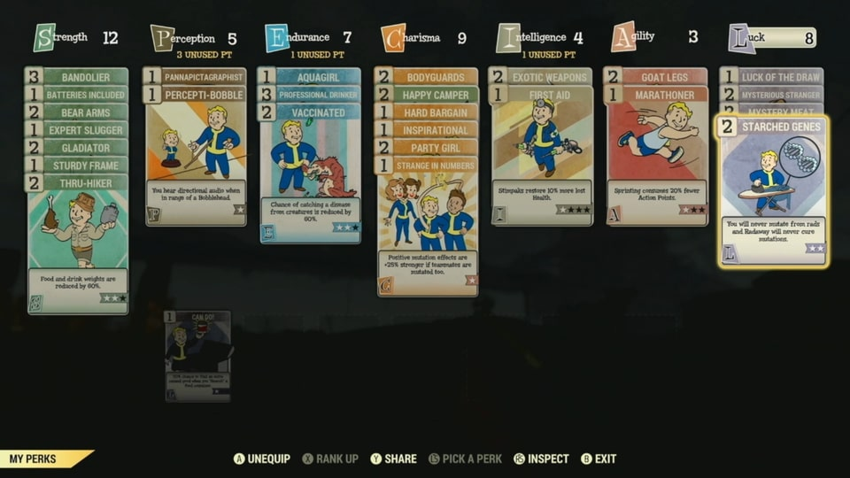fallout 76 level cap, special perks, perk cards