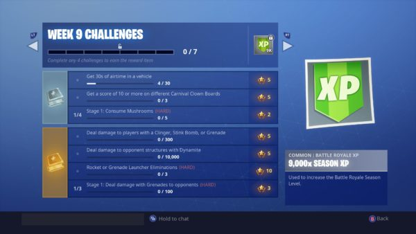 fortnite week 9 challenges