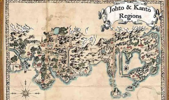 Map of Johto and Kanto