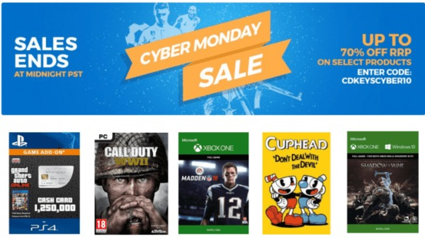 Cyber Monday Sale at CD Keys