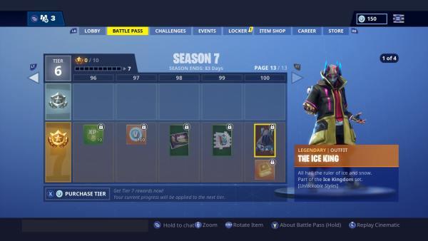 Fortnite Season 7 Tier 100 Skin