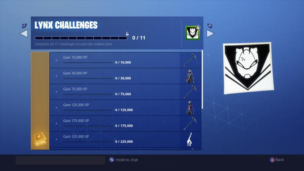 Fortnite Lynx Challenges