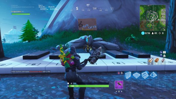 Where to find the Fortnite pianos near Pleasant Park and Lonely Lodge
