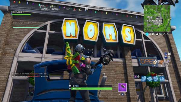 Fortnite, where the NOMS sign is