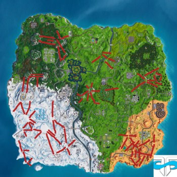 fortnite, where to find all ziplines, zipline locations in Fortnite Season 7